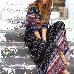 Dresses & Skirts - Boho Autumn Ready 3/4 Sleeve Maxi Dress